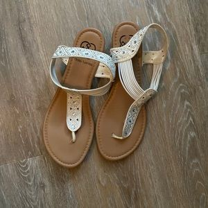 Pearl colored sandals